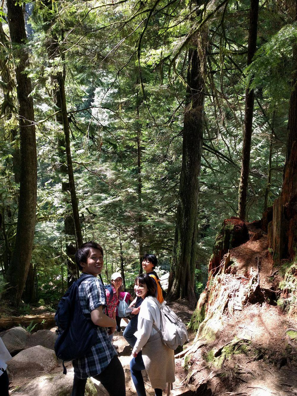 Students at Lynn Canyon